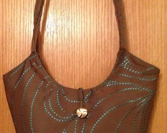 Taupe & Turquoise Handbag