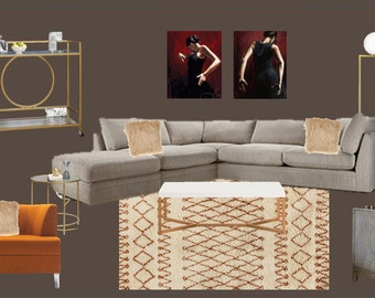Items Similar To Online Living Room Interior Designs On Etsy