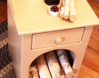 Firewood Storage, Side Table - Painted