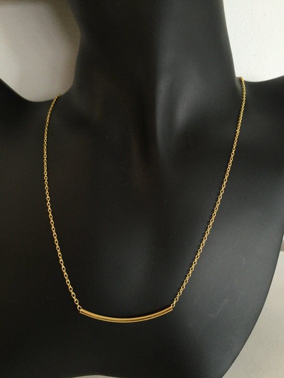 minimalist women 39 s necklace gold plated necklace rolo