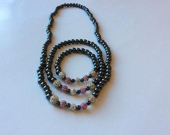 Necklace and Anklet and Bracelet Set