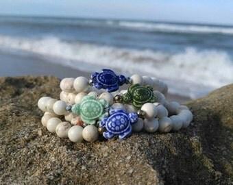 Sea Turtle Stacking Bracelet