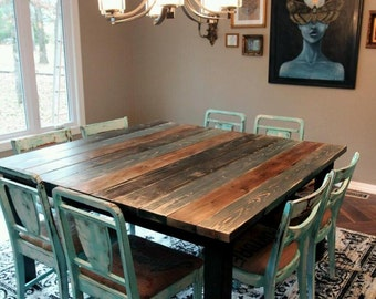 5' Square Farm Table