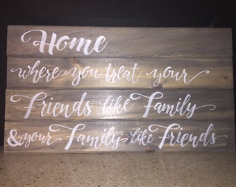 Blue Pine Home Decor Sign