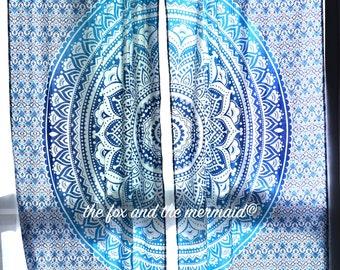 Mandala Tapestry Curtains, Boho Curtains, Tapestry Drapes, Mandala Wall  Hanging, Indian Curtains