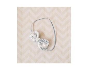 Silver Skinny Baby Headband