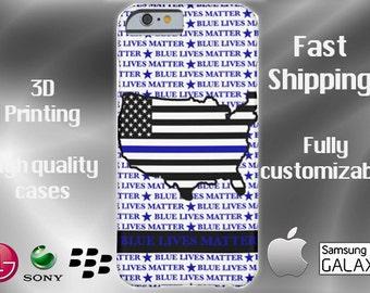 Blue Lives Matter Cell Phone Case, Blue Lives Matter iPhone Case, Blue Lives Matter Note 5 case, Blue Lives Matter, Support the Blue