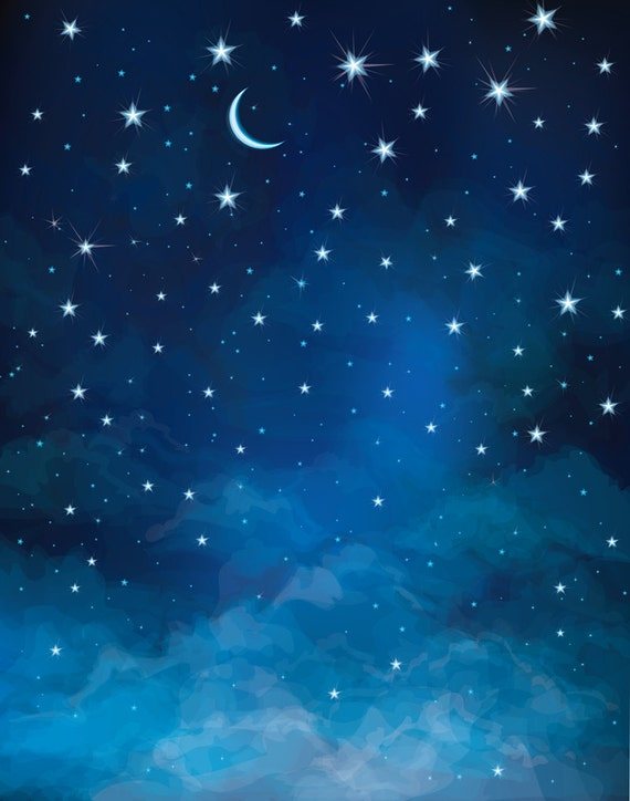 Night Sky Backdrop Moon And Star Astronomy Universe