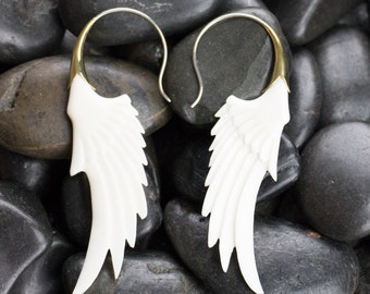 Angel Wing Bone Earrings