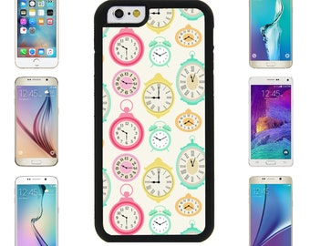 Clock Time Stop WatchCover Case for Apple iPhone 7 7 Plus 6 6S Plus Samsung Galaxy S7 Edge S6 Plus Note 5 6 7 8 9 10 att sprint verizon