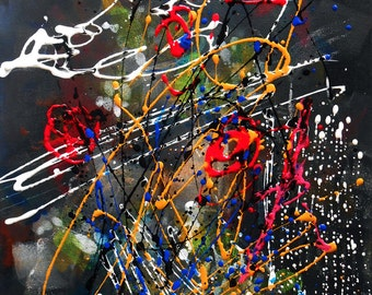 Modern painting Abstract Noir Color