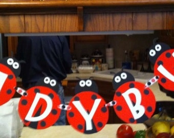 Lovely Ladybug Banner