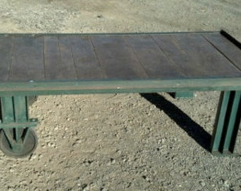Vintage Industrial Cart Coffee Table Myers cart USA made