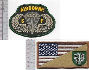 Green Beret US Army 10th Special Forces Group Airborne & SF Parachutist Wings