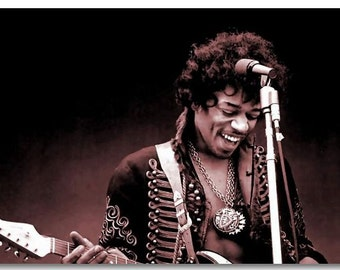 American guitarist Jimi hendrix High quality Art Silk Print Music Poster