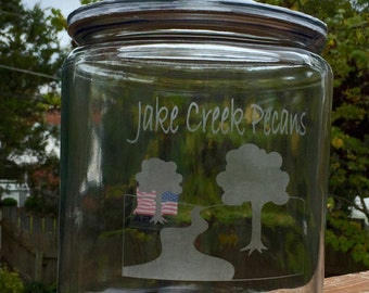 Your Company Logo Glass-Etched on a 1-Gallon Cookie Jar