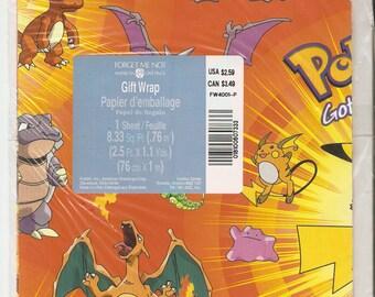 Pokemon Giftwrap Gift Wrap Wrapping Paper Pikichu Sheet American Greetings Sheet 8.33 Sq. Ft.