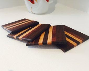 Gluing of wood coasters