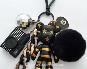Popobe USA Gold Bag Charm