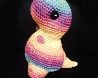 Crochet Rainbow Dinosaur