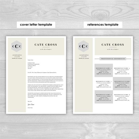 monogram resume template professional by resumetemplatestudio. Black Bedroom Furniture Sets. Home Design Ideas