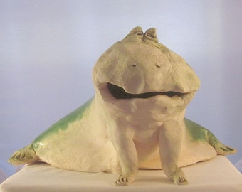 Original Dayna Galletti sculpture - Spotted Frog