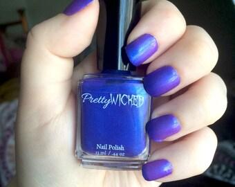 Blue/Pink Thermal Nail Polish - Demeter Polish - Color Changing Nail Polish - Royal Blue Nail Lacquer - Indie Nail Lacquer - Purple Polish