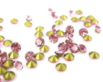 50 piece SS11 rhinestones 2.9 mm rose