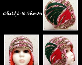 Crocheted Football School Helmet