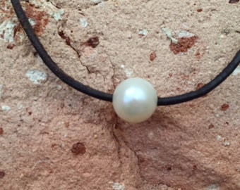 Freshwater and Leather Add-A-Pearl Customized Necklace