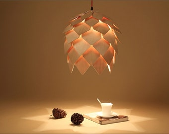 Pinecone Wooden Pendant Lamp
