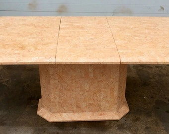 Tessellated Rose Marble Dining Table