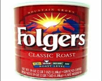 "2"" x 3"" Magnet Vintage Folgers Coffee Tin MAGNET"