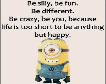 """2"""" x 3"""" Magnet Be Silly! Be Fun! Be Happy !Funny Decoration Fridge MAGNET"""