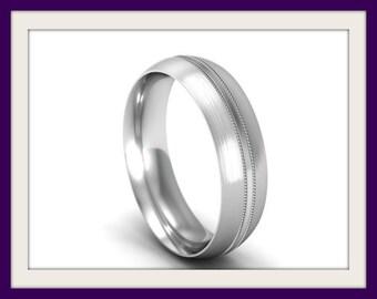 Wedding Ring Wedding Set UK Hallmarked Wedding Rings Women Wedding Ring Men Wedding Rings His and Hers Wedding Band 18k White Gold Wedding