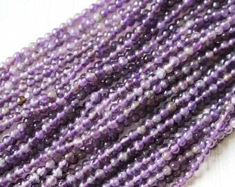 4mm Amethyst, Natural Amethyst, Round Beads, Purple Amethyst, Genuine Gemstone