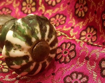 Vintage Green Door Knob from the 80's FREE SHIPPING