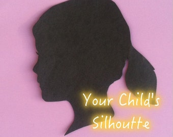 Your Child's Hand Cut Paper Silhouette