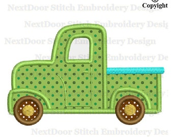 Truck Embroidery Applique Design,  Boy Embroidery File, vl-010