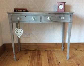 This item now SOLD. Console table/ hall table hand painted in a shabby chic style