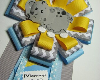 Mommy to Be Baby Shower Corsage / Baby Boy Shower Corsage / Elephant Baby Shower Corsage / Shower Corsage