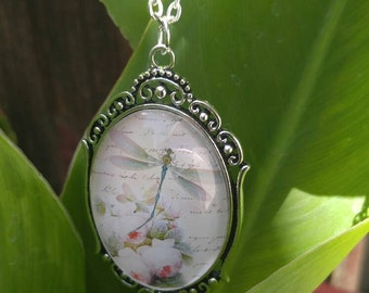 Dragonfly necklace, spring necklace, summer necklace, thinking of you, just because, happy birthday
