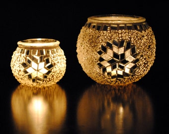 Incandescent- Handmade Turkish Candleholder Pair Home Decor Gifts