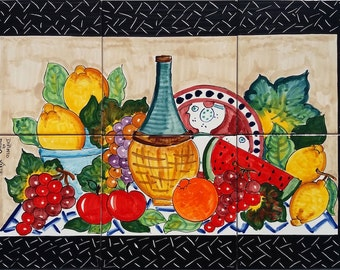 Decorative Kitchen Backsplash Tiles Hand Painted Tile Mural
