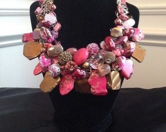 The Pink and Gold Necklace