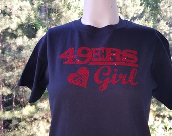 Women's San Francisco 49ers Studded Leather Cuff Bracelet