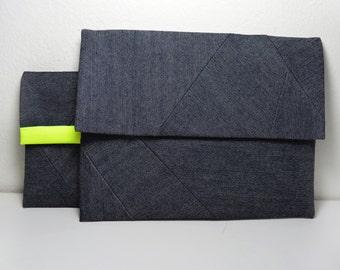 """Jeans sleeve , denim cover for 6"""", 7"""", 9.6"""" tablet or reader."""