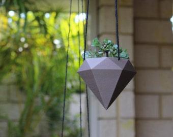 Diamond Hanging Pot, 3D Printed