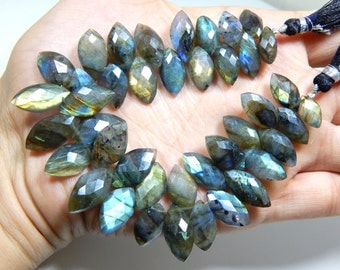 70%OFF Labradorite Gemstone Faceted Marquise Beads Size 10x7 to 18x12 mm Approx  - 0508
