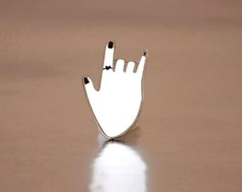 Rock It Hand Pin